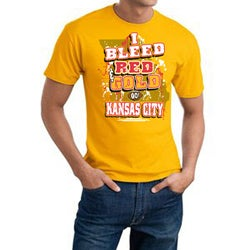 Kansas City 'I Bleed Red & Gold' Cotton Graphic Tee