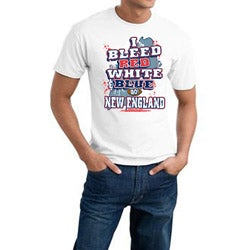 New England Football 'I Bleed Red, White & Blue' White Tee