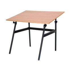 Martin Berkeley Classic Black Base Cherrywood Top Table