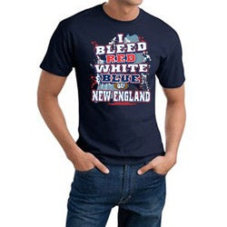 New England 'I Bleed Red, White & Blue' Cotton Tee