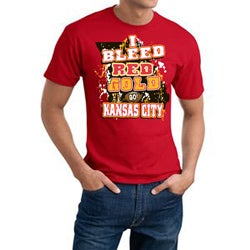 Kansas City 'I Bleed Red & Gold' Cotton Tee