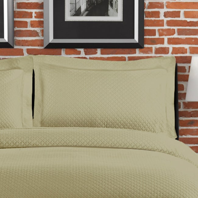 Diamante Matelasse Sage Standard-size Sham at Sears.com