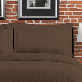 Diamante Matelasse Brown Standard-size Sham