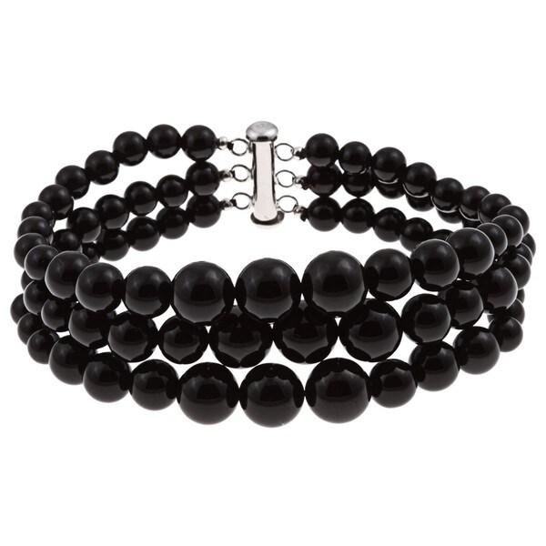 Pearlz Ocean Sterling Silver Black Onyx Journey Bracelet