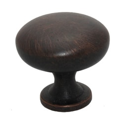 GlideRite Oil Rubbed Bronze Classic Round Cabinet Knobs (Case of 25)