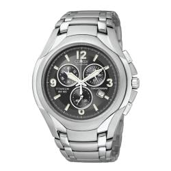 Citizen Men's Eco-Drive Titanium Chronograph Black Dial Watch