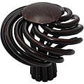 GlideRite Oil Rubbed Bronze Round Birdcage Cabinet Knobs (Pack of 25)
