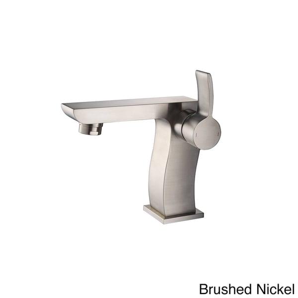 Kraus Bathroom White Square Ceramic Sink and Sonus Basin Faucet Combo Set