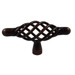 GlideRite 3-inch Oil Rubbed Bronze T-Handle Birdcage Cabinet Knobs (Case of 25)