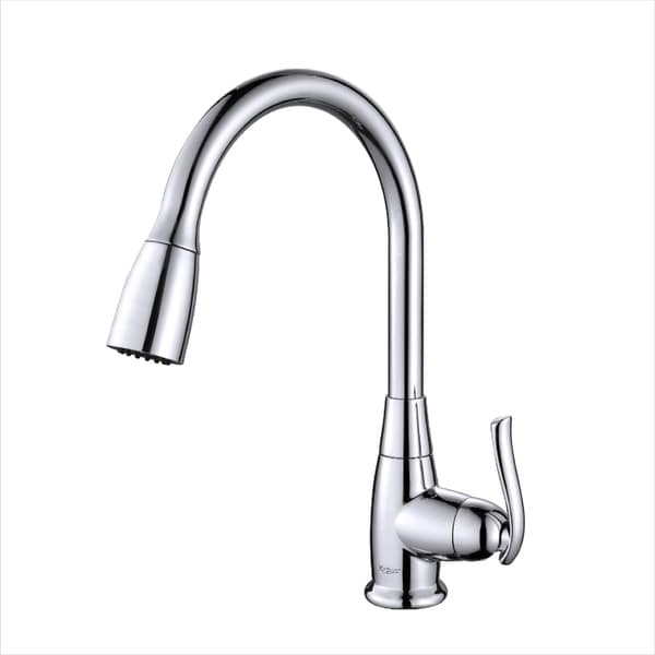 kraus single lever pull out kitchen faucet overstock