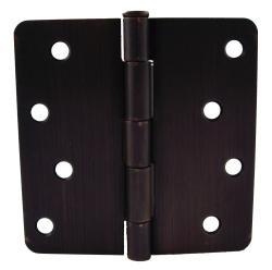 GlideRite 4-inch x 1/4-inch Radius Oil Rubbed Bronzel Door Hinges (Case of 24)