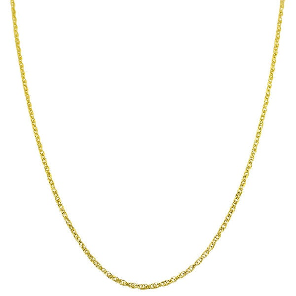 Highly Polished14-karat Yellow-gold Light Rope Chain (16-20 inch)