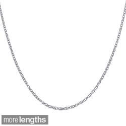 Fremada 14k White Gold Lite Rope Chain (16 - 20 inch)