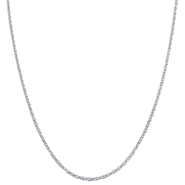 Fremada 14k White Gold Lite Rope Chain 16 20 Inch image