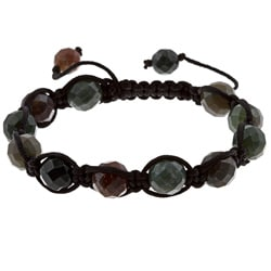 Dolce Giavonna Indian Agate Beaded Macrame Bracelet