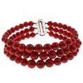 Pearlz Ocean Sterling Silver Red Coral Journey Bracelet