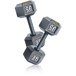 CAP BCAP Barbell 35 lb Pair of Hex Dumbbells (Set of 2)