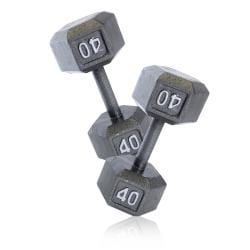 CAP Barbell 40 lb Pair of Cast Iron Hex Dumbbells (Set of 2)