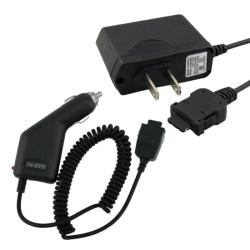 Black Car and Travel Charger for Samsung A850/ A950/ U340