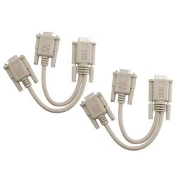 Beige VGA Y-Split Cable M/ F (Pack of 2)