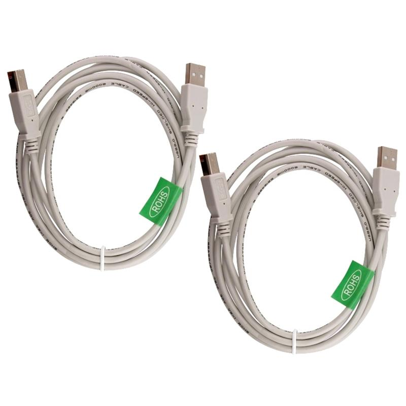 INSTEN 6-foot White/ Beige USB 2.0 A to B M/ M Cable (Pack of 2)
