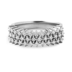 14k White Gold 1/2ct TDW Princess-cut Pave Diamond Band (H-I, I2)