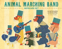 Animal Marching Band Notecard Set (Cards)