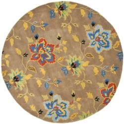 Handmade Soho Paradise Brown New Zealand Wool Rug (6' Round)