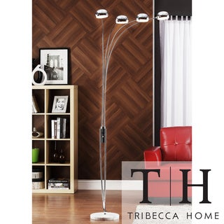 TRIBECCA HOME Modern Silver Chrome Arch Lamp