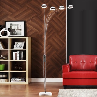 TRIBECCA HOME Modern Silver Chrome Arch Lamp