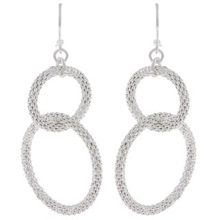La Preciosa Sterling Silver Interlocking Circle Earrings