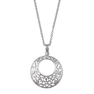La Preciosa Sterling Silver Diamond-cut Filigree Necklace