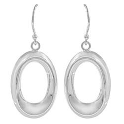 La Preciosa Sterling Silver Open Oval Earrings