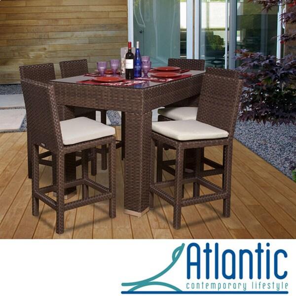 Atlantic Olivia 7-piece Wicker Bar Set