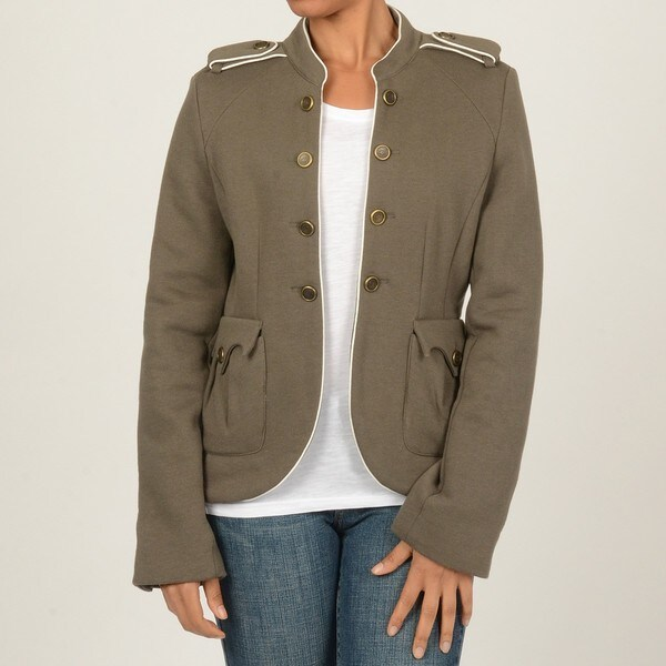 CoffeeShop Juniors Sage Military Jacket
