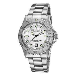 Stuhrling Original Men's Regatta Sailor Divers Silvertone Swiss Watch