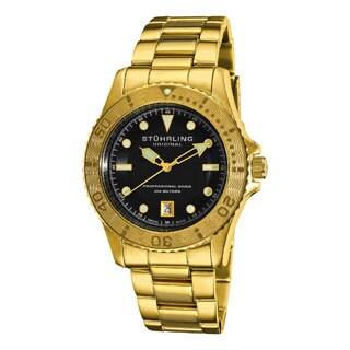 Stuhrling Original Men's Regatta Sailor Divers Goldtone Swiss Watch