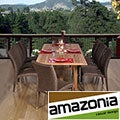 Michelangelo Rectangular 9-piece Teak and Wicker Dining Set