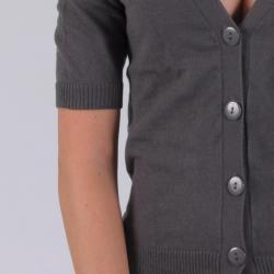 Ci Sono by Adi Junior's Ladies' Half-Sleeve Buttoned Cardigan