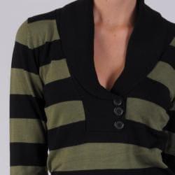 Ci Sony by Adi Juniors Striped V-neck Sweater