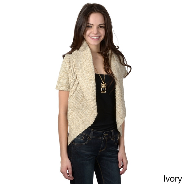 Ci Sono by Adi Juniors Cable Knit Cardigan Sweater