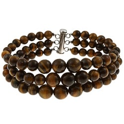Pearlz Ocean Sterling Silver Yellow Tiger's Eye Journey Bracelet
