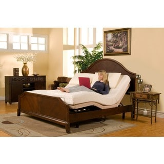 Sleep Zone Supreme Adjustable Bed And 10 Inch Hybrid Split King Size Mattress Set Overstock