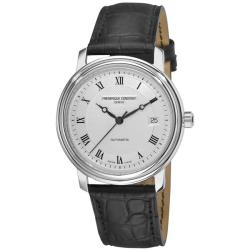 Frederique Constant Men's 'Classics Automatic' Leather Strap Watch