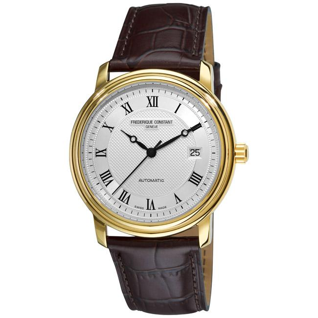 Frederique Constant Men's 'Classics Automatic' Water-Resistant Leather Strap Watch