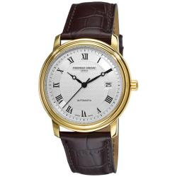 Frederique Constant Men's 'Classics Automatic' Water-Resistant Leather Strap Watch