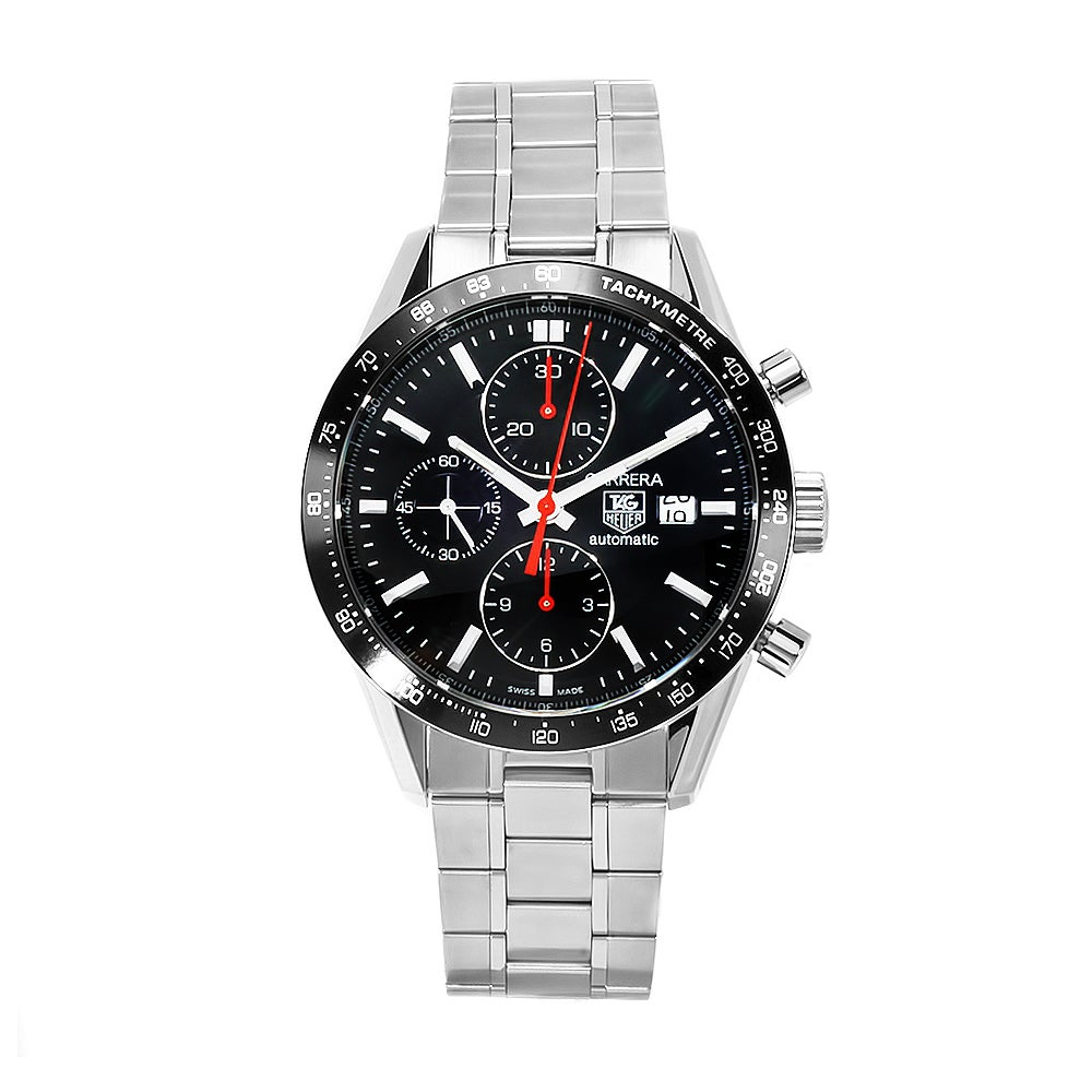 Tag heuer men 39 s cv2014 ba0794 carrera chronograph watch 13829026 shopping for Tag heuer discount