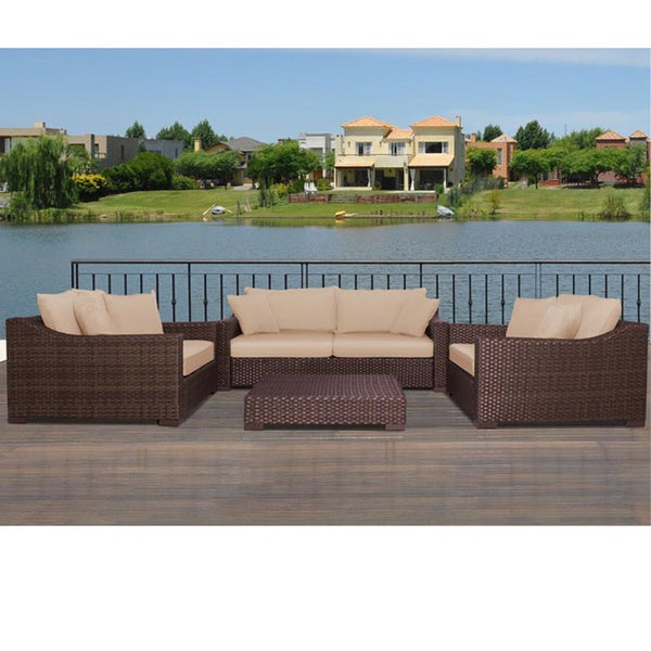 Atlantic Lexington Deluxe 4-piece Deep Seating Set with Sunbrella