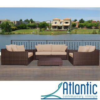 Lexington Deluxe 4-piece Deep Seating Set with Sunbrella