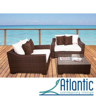 Atlantic Lexington Off-white 3-piece Deep Seating Set